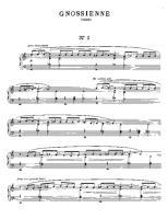 Satie gymnopedie sheet music pdf